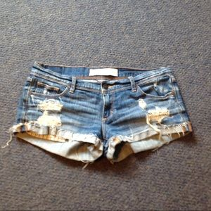 Abercrombie & Fitch Shorts - A&F Distressed Perfect Stretch Jean Shorts 2 26
